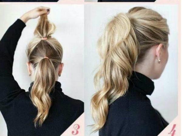 peinados faciles coleta doble - Peinados Fciles