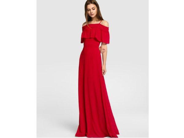 Vestidos rojos largos de noche 2018