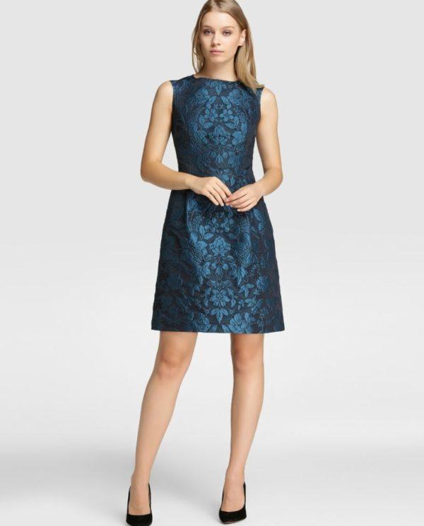 vestidos-de-comunion-para-madres-azul-metalizado