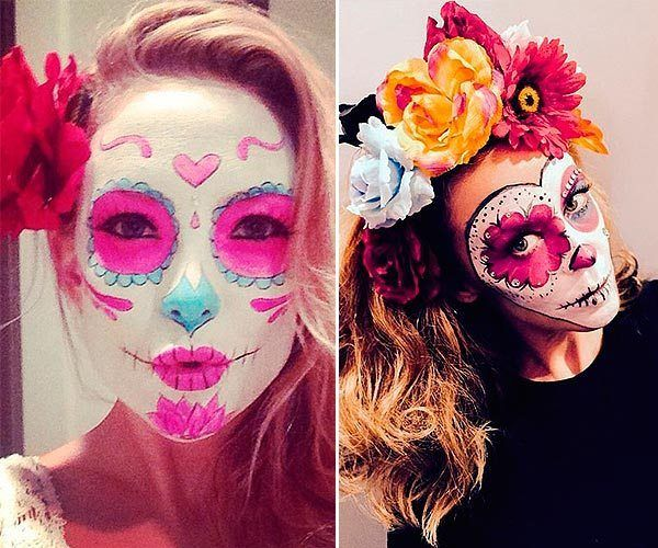maquillaje-de-catrina-para-halloween-con-ojos-rosas