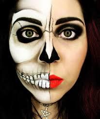 maquillaje-halloween-calavera-mitad-cara