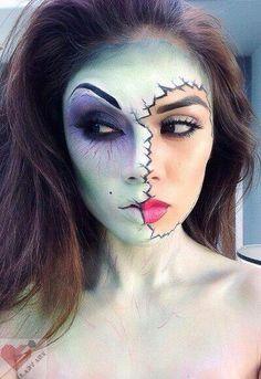 maquillaje-halloween-novia-cadaver-mitad-cara