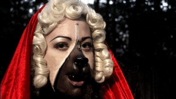 maquillaje-halloween-cremallera-caperucita-hombre-lobo