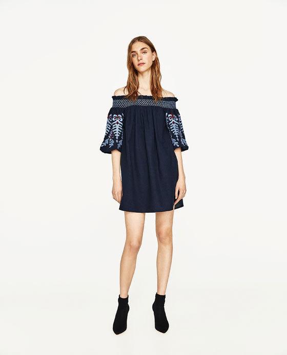 Vestidos algodon mujer zara
