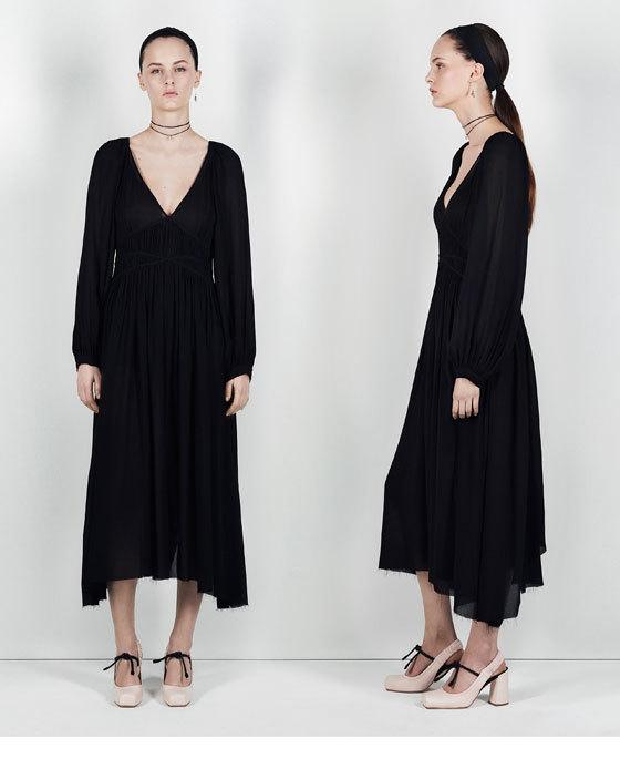 Vestidos de noche de zara 2018