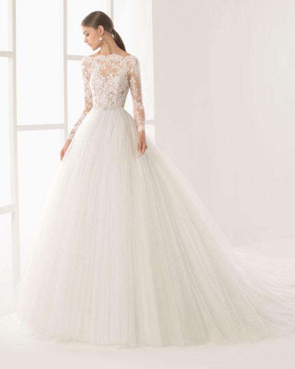 vestidos de novia manga larga primavera verano 2019 - modaellas
