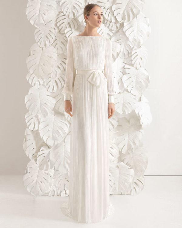 6eb9a24d1 Vestidos de novia manga larga Primavera Verano 2019 - ModaEllas.com