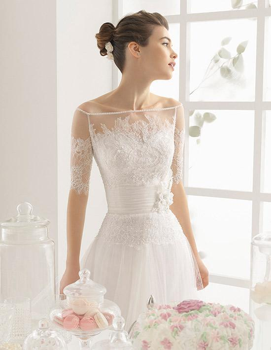 Vestido novia corto el corte ingles