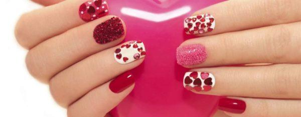 Decorated Nails For Valentines Day 2018 Modaellascom