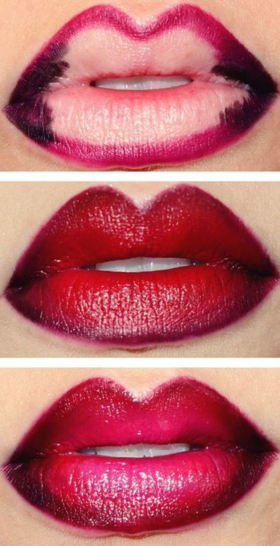 Make-up-for-valentine-lips-step-by-step