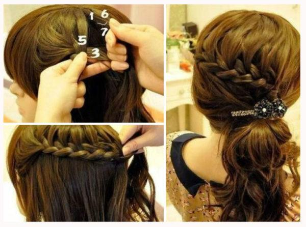 Hairstyles-for-san-valentin-braids-pick-up-with-brooch