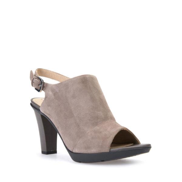 Zapatos negros de punta abierta formales Geox para mujer fdXVtHN