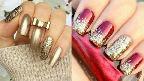 From Glitter To Gems And Other Bright Details Nails Completely Covered By Pearls Accessories Are Very Used In Nail Art