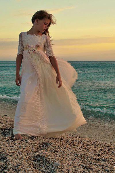 Vestidos de comunion con manga larga