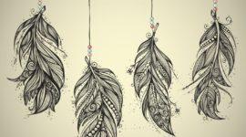 Los mejores diseños de tatuajes de plumas 2017