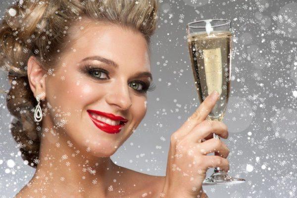 Maquillaje para navidad clasico