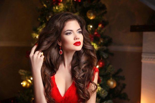 Peinados para navidad con ondas