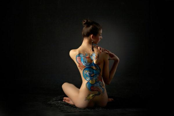 Tatuajes de dragones grandes disenos de colores