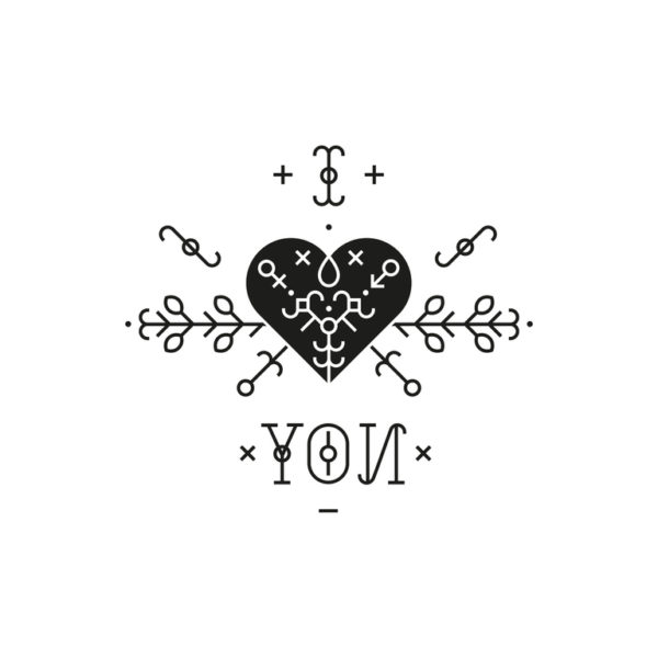 Tatuajes de flechas pequenos corazon con flecha en forma de tribal
