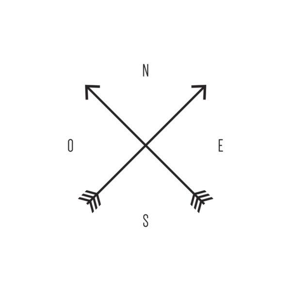 Tatuajes de flechas pequenos flechas cruzadas