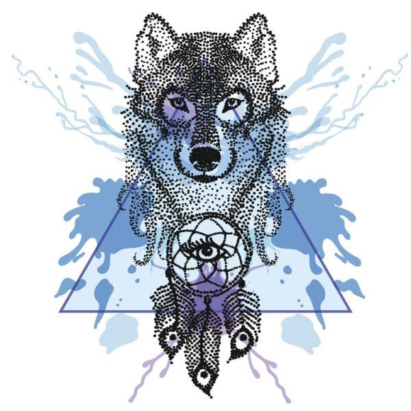Tatuajes de lobos para mujer estilos con atrapasuenos