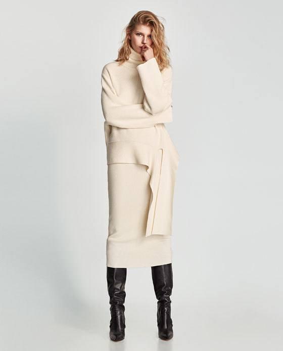 Faldas largas y ajustadas como esta bonita falda confeccionada en canalé 03e5f49fb8bc