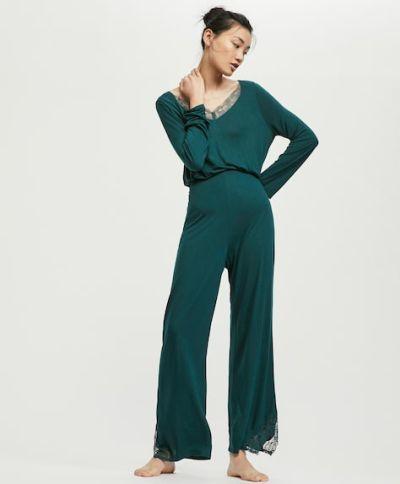 catalogo-oysho-para-mujer-pijama-blonda-verde