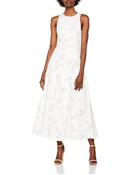 Vestidos tipo coctel color blanco