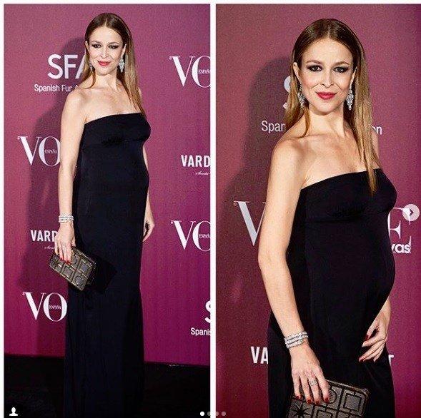 b57998086 Para acabar nuestro repaso a las famosas que han estado embarazadas y que  han lucido bonitos vestidos de fiesta que nos sirven de inspiración para  Primavera ...