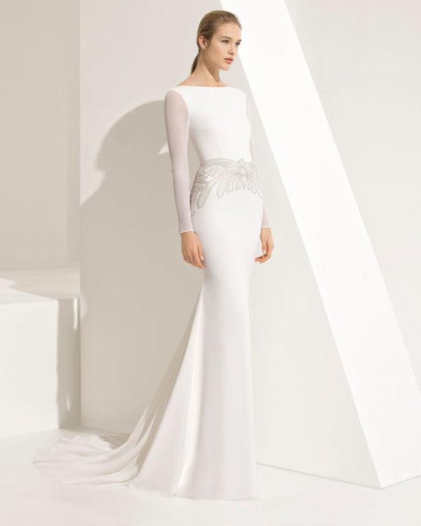 Vestido de novia de Rosa Clará, boda