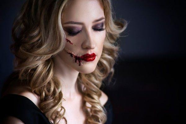 Como pintar para Halloween mujer rajada