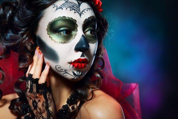 Maquillaje de Halloween para mujer, chica