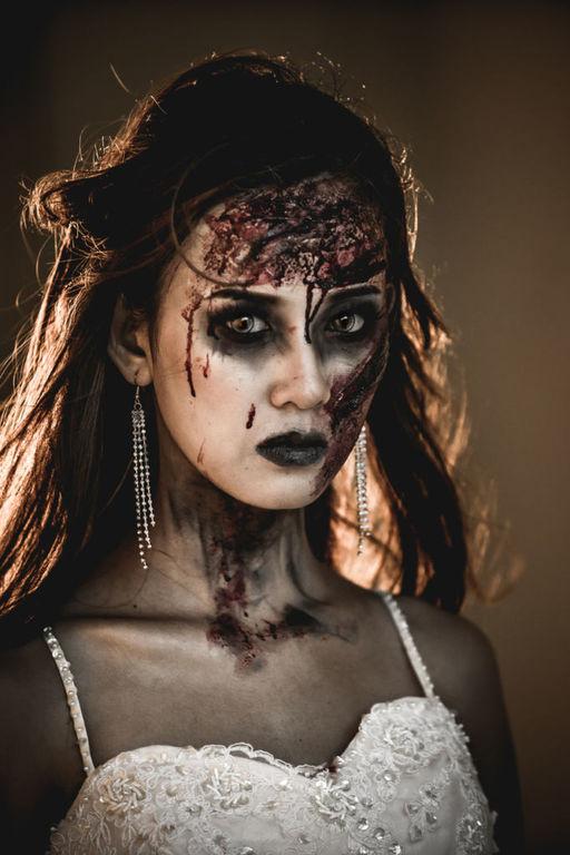 Pintar la cara para halloween pinturas corcho quemado