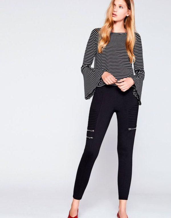 fb55b7df5c Lefties hace su propuesta con estos leggings que siguen ese modelo de  pantalón. En color negro