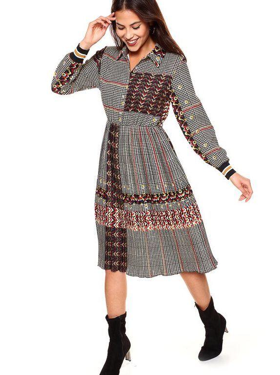a7b5186655c Para las ocasiones especiales de esta temporada, nos podemos decantar  además por el modelo de vestido que cuenta con estampado del tipo «príncipe  de gales», ...