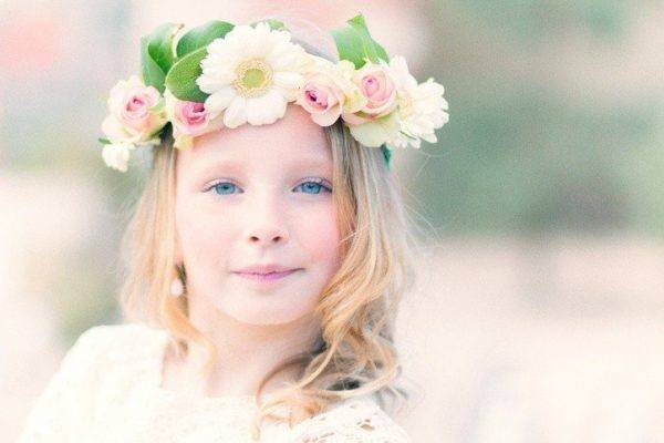 Foto peinados niña flores