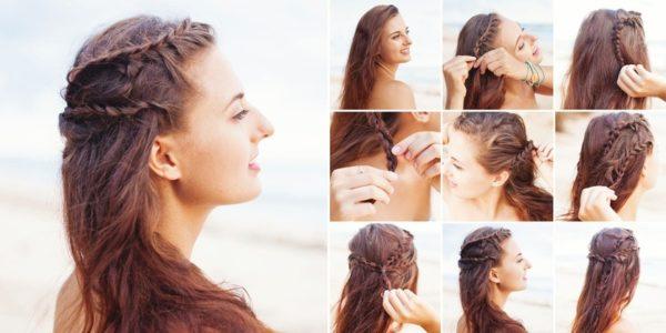 Peinados griegos pelo suelto