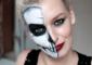 Half face Halloween makeup: Step by step tutorial