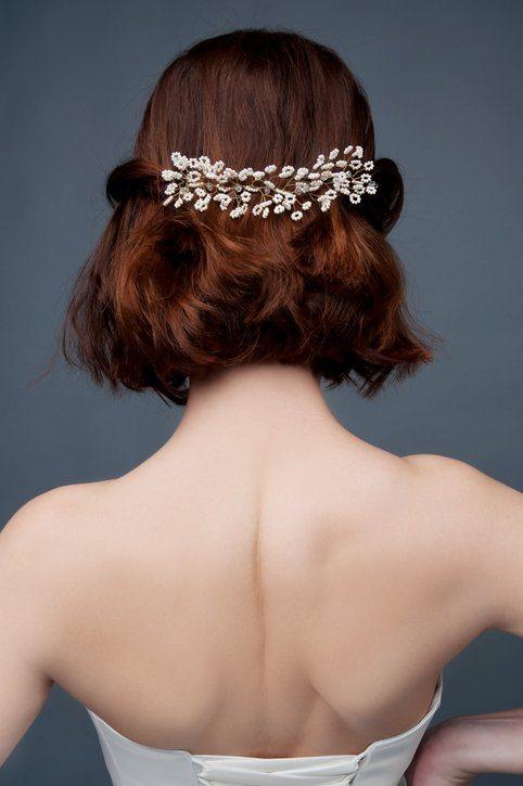 Peinados faciles para pelo corto semirecogido