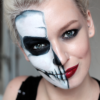 Half face Halloween makeup: Step by step tutorial