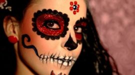 Catrina Halloween makeup: how to do it step by step
