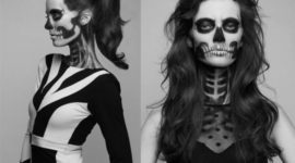 Quick and easy Halloween skull makeup