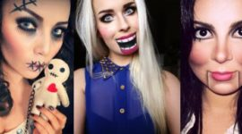 How to do a creepy Halloween doll makeup step by step