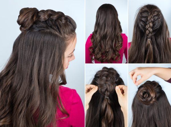 Semirecogidos con pelo largo