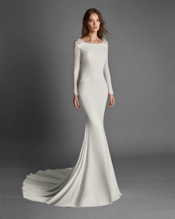 los vestidos de novia sencillos primavera verano 2019 - modaellas