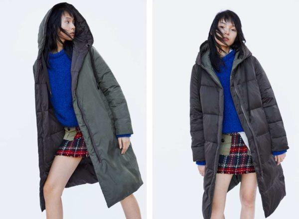 800736b8828 También en Bershka puedes encontrar estos abrigos de plumas que además  cuentan con acolchados tan destacados como en este modelo. Un abrigo  perfecto para el ...