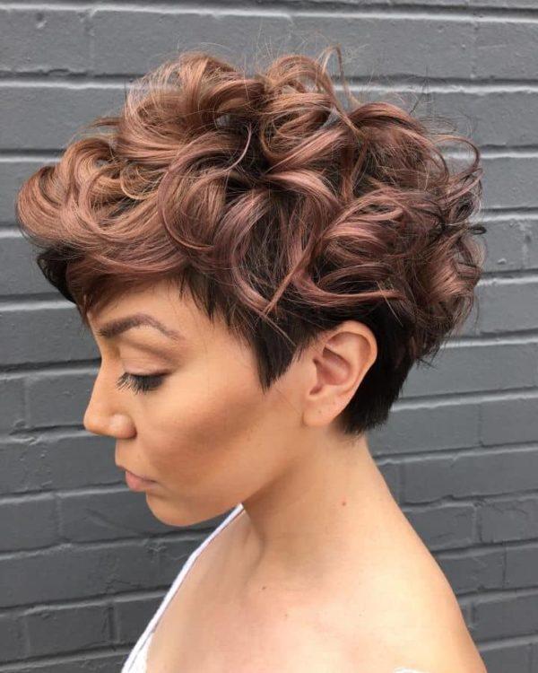 Corte De Cabello Rizado Corto De Mujer Buscar Peinados