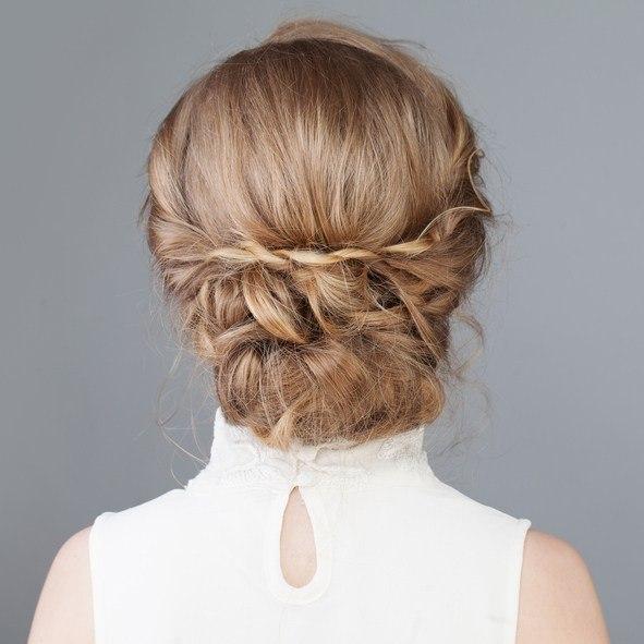 Peinados para san valentin pelo recogido con trenzas