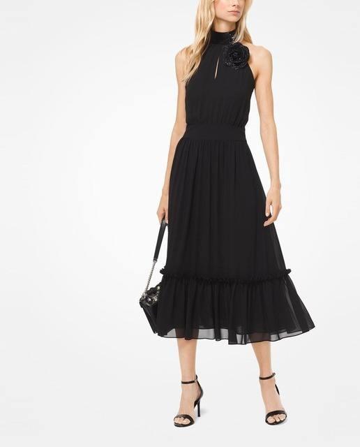 vestidos-de-comunion-para-madres-negro-cuello-halter-elcorteingles