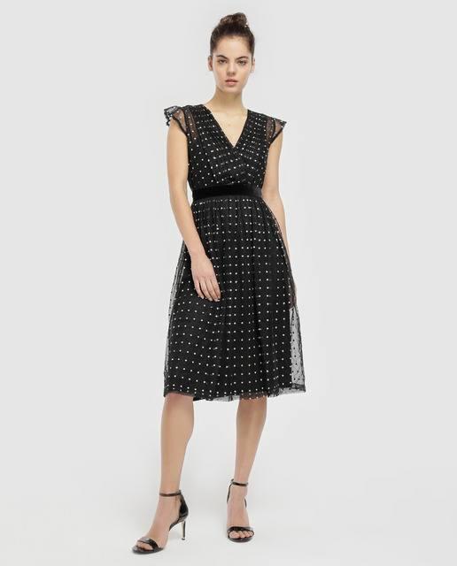 vestidos-de-comunion-para-madres-tintoretto-tul-de-lunares-elcorteingles